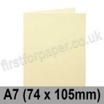 Cumulus, Pre-Creased, Single Fold Cards, 250gsm, 74 x 105mm (A7), Cream