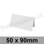 Enstone, Hammer Embossed, Pre-creased, Place Cards, 280gsm, 50 x 90mm, Bright White