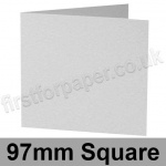Enstone, Hammer Embossed, Pre-creased, Single Fold Cards, 280gsm, 97mm Square, Bright White