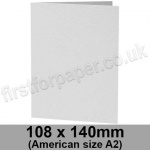 Enstone, Hammer Embossed, Pre-creased, Single Fold Cards, 280gsm, 108 x 140mm (American A2), Bright White