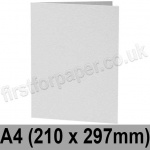 Enstone, Hammer Embossed, Pre-creased, Single Fold Cards, 280gsm, 210 x 297mm (A4), Bright White