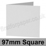 Enstone, Hide Embossed, Pre-creased, Single Fold Cards, 280gsm, 97mm Square, Bright White