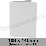Enstone, Hide Embossed, Pre-creased, Single Fold Cards, 280gsm, 108 x 140mm (American A2), Bright White