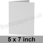 Enstone, Hide Embossed, Pre-creased, Single Fold Cards, 280gsm, 127 x 178mm (5 x 7 inch), Bright White