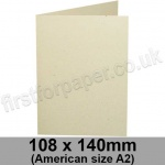 Harrier Speckled, Pre-creased, Single Fold Cards, 240gsm, 108 x 140mm (American A2), Ivory