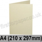 Harrier Speckled, Pre-creased, Single Fold Cards, 240gsm, 210 x 297mm (A4), Ivory