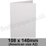 Harrier Speckled, Pre-creased, Single Fold Cards, 240gsm, 108 x 140mm (American A2), Natural White