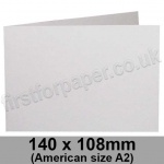 Harrier Speckled, Pre-creased, Single Fold Cards, 240gsm, 140 x 108mm (American A2) Landscape, Natural White