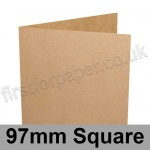 Kreative Kraft, Pre-creased, Single Fold Cards, 225gsm, 97mm Square