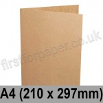 Kreative Kraft, Pre-creased, Single Fold Cards, 225gsm, 210 x 297mm (A4)