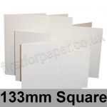 Linen Texture, Pre-creased, Single Fold Cards, 260gsm, 125 x 176mm, Brilliant White