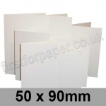 Linen Texture, Pre-creased, Place Cards, 260gsm, 50 x 90mm, Brilliant White