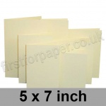 Linen Texture, Pre-creased, Single Fold Cards, 260gsm, 127 x 178mm (5 x 7 inch), Cream