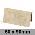 Marlmarque, Pre-creased, Place Cards, 300gsm, 50 x 90mm, Olympic Ivory