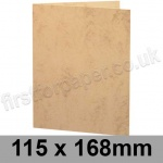 Marlmarque, Pre-creased, Single Fold Cards, 300gsm, 115 x 168mm, Grecian Tan