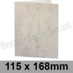 Marlmarque, Pre-creased, Single Fold Cards, 300gsm, 115 x 168mm Marble White