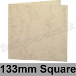 Marlmarque, Pre-creased, Single Fold Cards, 300gsm, 133mm Square, Olympic Ivory