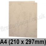 Marlmarque, Pre-creased, Single Fold Cards, 300gsm, 210 x 297mm (A4), Olympic Ivory