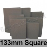 Rapid Colour Card, Pre-creased, Single Fold Cards, 240gsm, 133mm Square, Battleship Grey