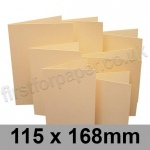 Rapid Colour Card, Pre-creased, Single Fold Cards, 225gsm, 115 x 168mm, Brambling Buff