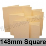 Rapid Colour Card, Pre-creased, Single Fold Cards, 225gsm, 148mm Square, Brambling Buff