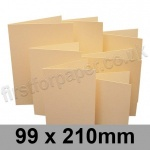 Rapid Colour Card, Pre-creased, Single Fold Cards, 225gsm, 99 x 210mm, Brambling Buff