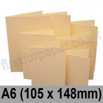 Rapid Colour Card, Pre-creased, Single Fold Cards, 225gsm, 105 x 148mm (A6), Brambling Buff