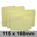 Rapid Colour Card, Pre-creased, Single Fold Cards, 225gsm, 115 x 168mm, Bunting Yellow