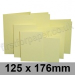 Rapid Colour Card, Pre-creased, Single Fold Cards, 225gsm, 125 x 176mm, Bunting Yellow