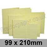 Rapid Colour Card, Pre-creased, Single Fold Cards, 225gsm, 99 x 210mm, Bunting Yellow