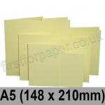 Rapid Colour Card, Pre-creased, Single Fold Cards, 225gsm, 148 x 210mm (A5), Bunting Yellow