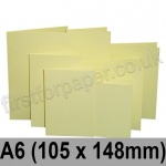 Rapid Colour Card, Pre-creased, Single Fold Cards, 225gsm, 105 x 148mm (A6), Bunting Yellow