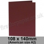 Rapid Colour Card, Pre-creased, Single Fold Cards, 240gsm, 108 x 140mm (American A2), Burgundy