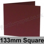 Rapid Colour Card, Pre-creased, Single Fold Cards, 240gsm, 133mm Square, Burgundy