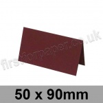 Rapid Colour Card, Pre-creased, Place Cards, 240gsm, 50 x 90mm, Burgundy