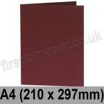Rapid Colour Card, Pre-creased, Single Fold Cards, 240gsm, 210 x 297mm (A4), Burgundy