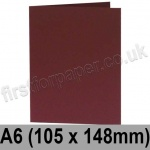 Rapid Colour Card, Pre-creased, Single Fold Cards, 240gsm, 105 x 148mm (A6), Burgundy