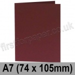 Rapid Colour Card, Pre-creased, Single Fold Cards, 240gsm, 74 x 105mm (A7), Burgundy
