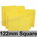 Rapid Colour Card, Pre-creased, Single Fold Cards, 225gsm, 122mm Square, Canary Yellow