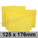 Rapid Colour Card, Pre-creased, Single Fold Cards, 225gsm, 125 x 176mm, Canary Yellow