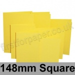 Rapid Colour Card, Pre-creased, Single Fold Cards, 225gsm, 148mm Square, Canary Yellow