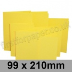 Rapid Colour Card, Pre-creased, Single Fold Cards, 225gsm, 99 x 210mm, Canary Yellow