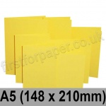 Rapid Colour Card, Pre-creased, Single Fold Cards, 225gsm, 148 x 210mm (A5), Canary Yellow