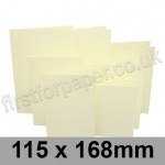 Rapid Colour Card, Pre-creased, Single Fold Cards, 225gsm, 115 x 168mm, Chamois