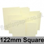 Rapid Colour Card, Pre-creased, Single Fold Cards, 225gsm, 122mm Square, Chamois