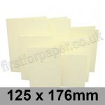 Rapid Colour Card, Pre-creased, Single Fold Cards, 225gsm, 125 x 176mm, Chamois