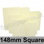 Rapid Colour Card, Pre-creased, Single Fold Cards, 225gsm, 148mm Square, Chamois
