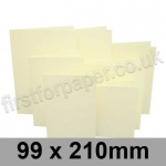 Rapid Colour Card, Pre-creased, Single Fold Cards, 225gsm, 99 x 210mm, Chamois