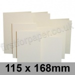 Rapid Colour Card, Pre-creased, Single Fold Cards, 225gsm, 115 x 168mm, Eider Vellum
