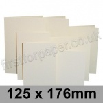 Rapid Colour Card, Pre-creased, Single Fold Cards, 225gsm, 125 x 176mm, Eider Vellum
